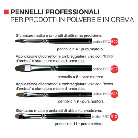 Pennelli Professionali - Per Prodotti in Polvere e in Crema - Phyto Make-Up