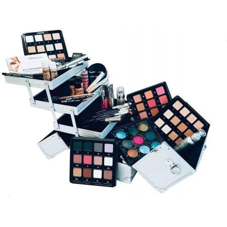Valigia Trucco In Alluminio Duo Piena - Cinecittà Make-Up